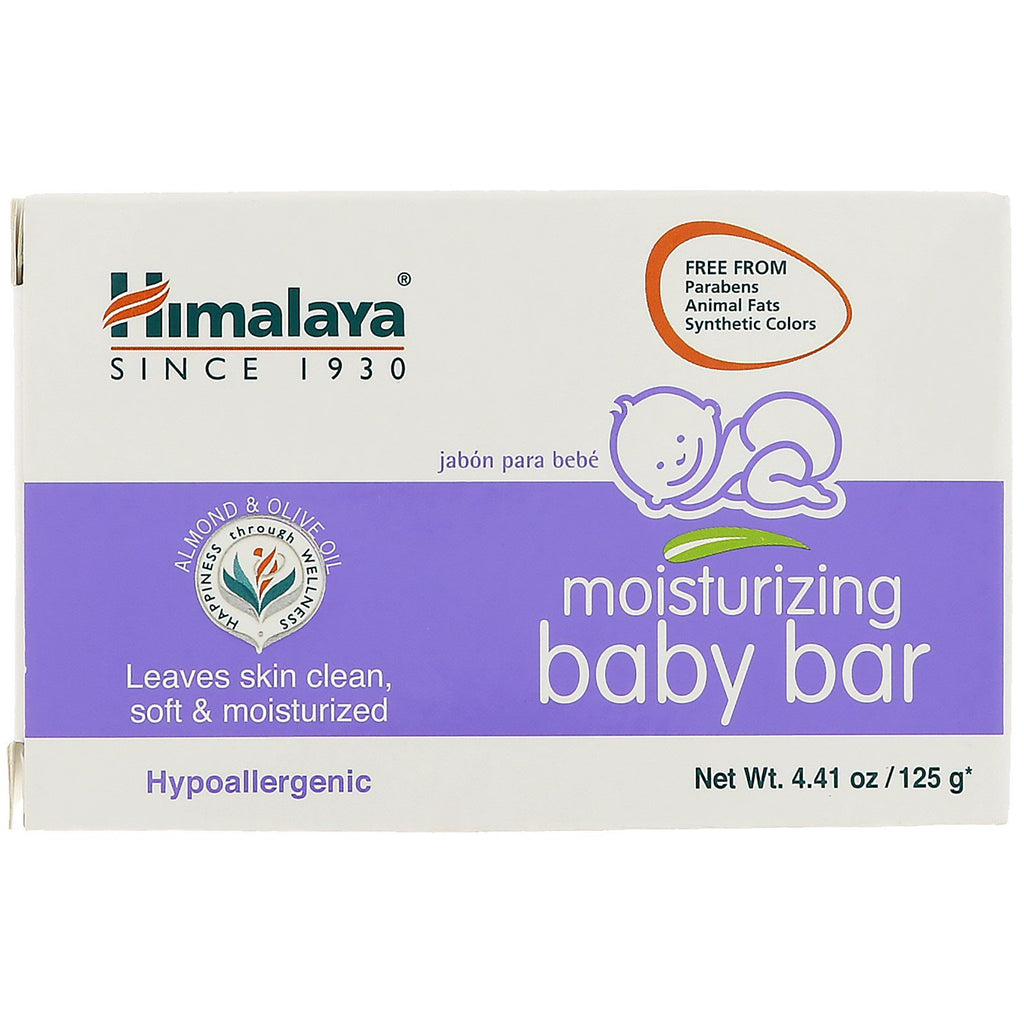 Himalaya, Moisturizing Baby Bar, 4.41 oz (125 g)