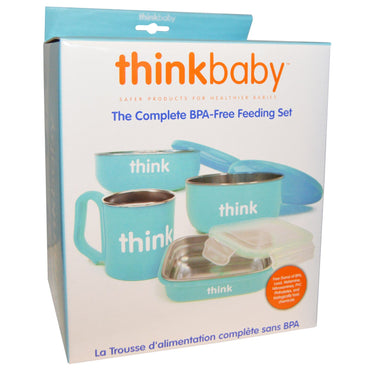 Think Thinkbaby The Complete BPA-Free Feeding Set Light Blue 1 Set