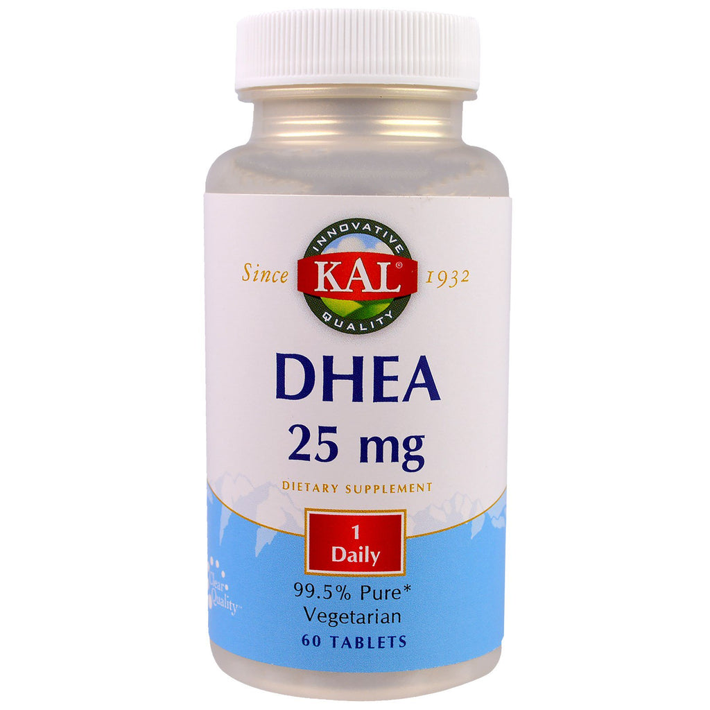 KAL, DHEA, 25 mg, 60 Tablets