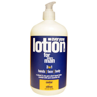 Everyone, Lotion For Every Man 3 in 1, Cedar + Citrus, 32 fl oz (946 ml)