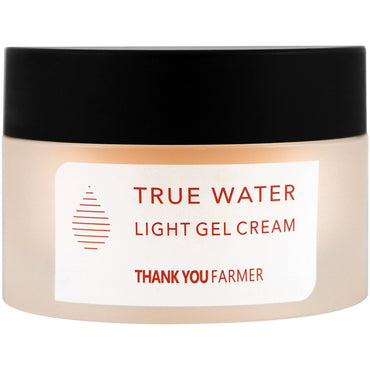 Thank You Farmer, True Water, Light Gel Cream, All Skin Types, 1.75 fl oz (50 ml)