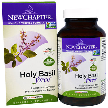 New Chapter, Holy Basil Force, 120 Liquid VCaps