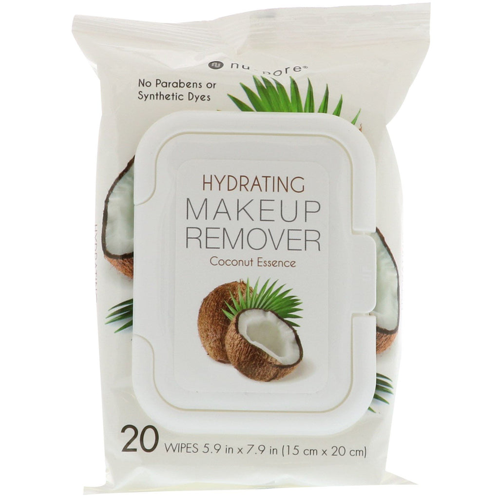 Nu-Pore, Hydrating Makeup Remover, Coconut Essence, 20 Wipes