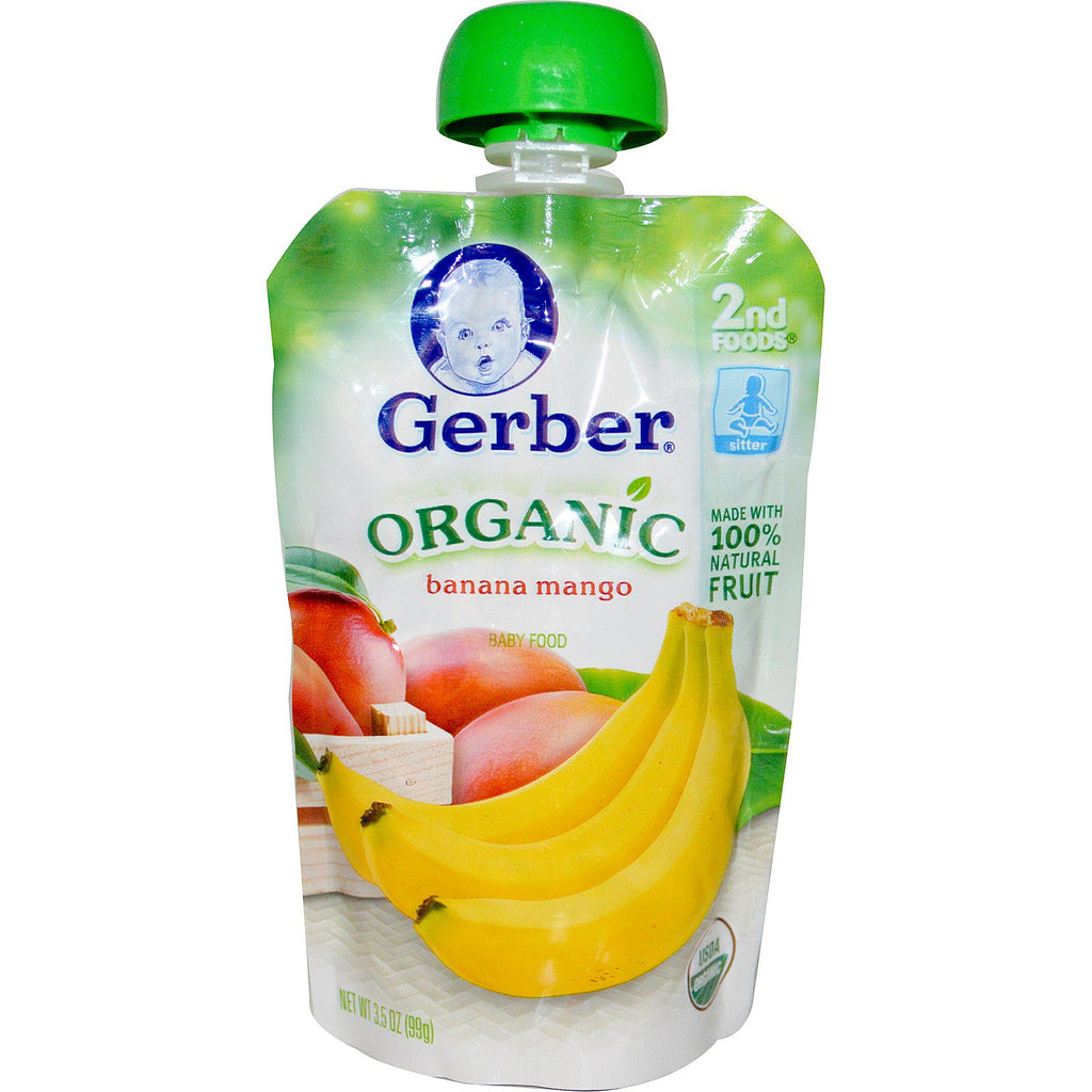 Gerber 2nd Foods Organic Baby Food Banana Mango 3.5 oz (99 g)