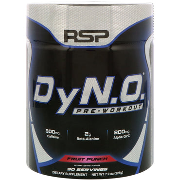 RSP Nutrition, DyN.O. Pre-Workout, Fruit Punch, 7.9 oz (225 g)