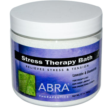 Abra Therapeutics, Stress Therapy Bath, Lavender & Chamomile, 17 oz (482g)