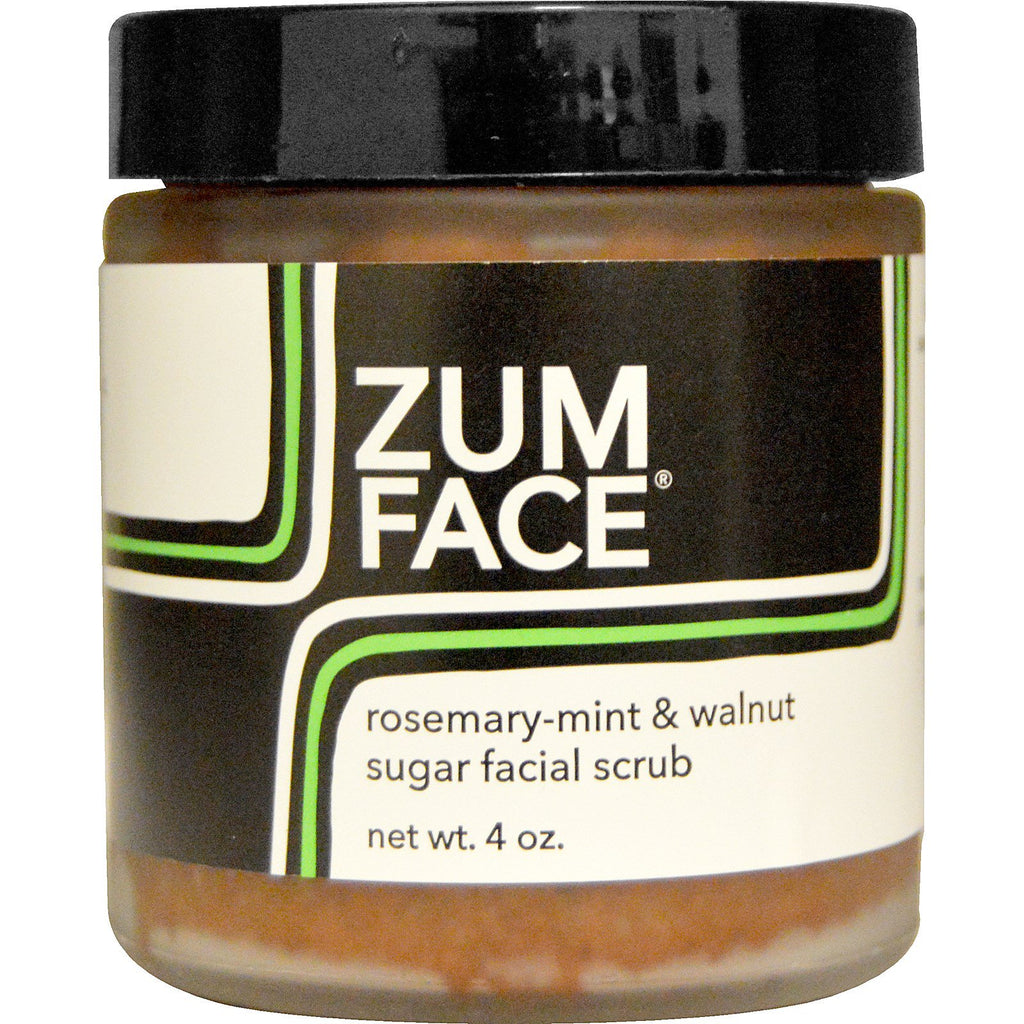 Indigo Wild, Zum Face, Rosemary-Mint & Walnut Sugar Facial Scrub, 4 oz