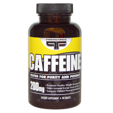 Primaforce, Caffeine, 200 mg, 90 Tablets