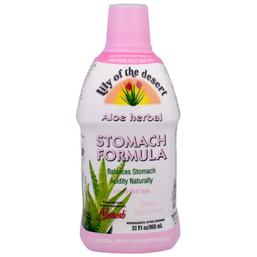 Lily of the Desert, Aloe Herbal Stomach Formula, Mint, 32 fl oz (946 ml)
