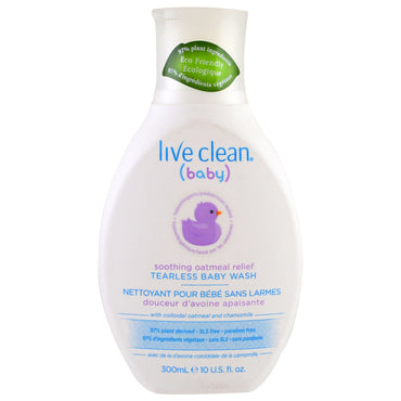 Live Clean Baby Soothing Oatmeal Relief Tearless Baby Wash 10 fl oz (300 ml)
