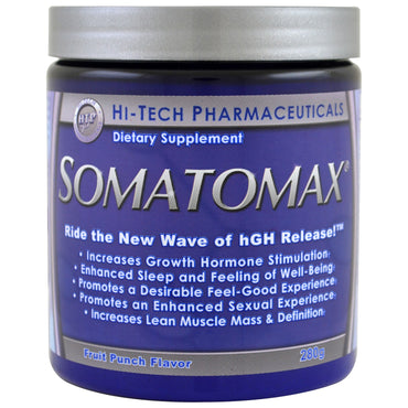 Hi Tech Pharmaceuticals, Somatomax, hGH Release, Fruit Punch Flavor, 280 g