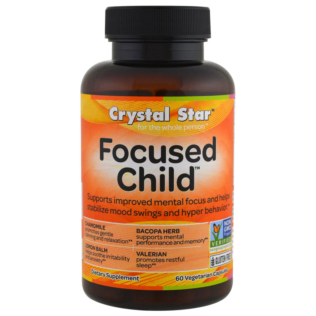 Crystal Star, Focused Child, 60 Veggie Caps