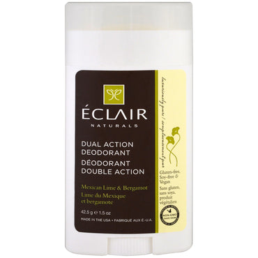 Eclair Naturals, Dual Action Deodorant, Mexican Lime & Bergamot, 1.5 oz (42.5 g)