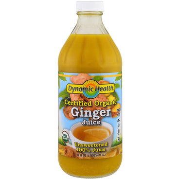 Dynamic Health Laboratories, Certified Organic Ginger Juice, 16 fl oz (473 ml)