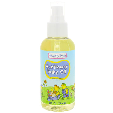 Healthy Times, Sunflower Baby Oil, 4 fl oz (118 ml)