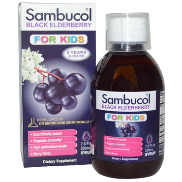 Sambucol, Black Elderberry, For Kids Syrup, Berry Flavor, 7.8 fl oz (230 ml)