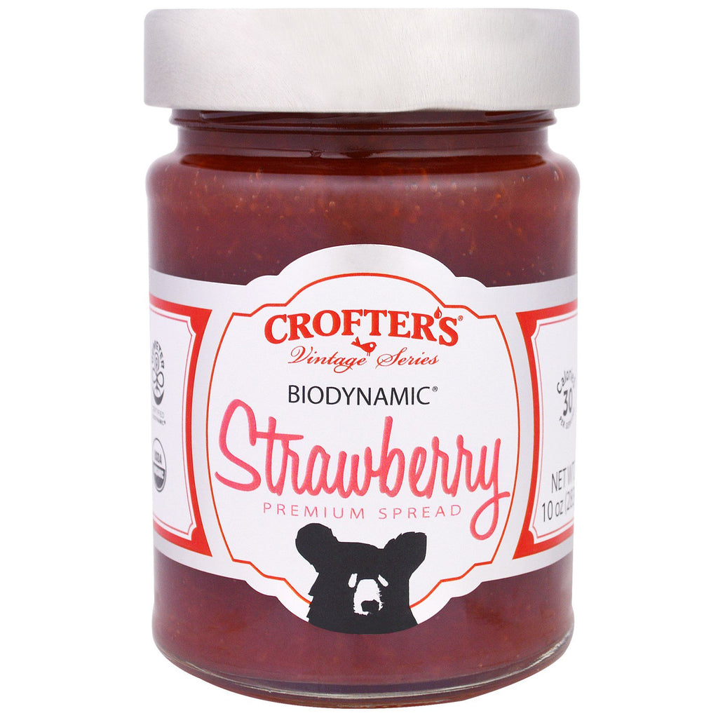 Crofter's Organic, Biodynamic, Premium Spread, Strawberry, 10 oz (283 g)