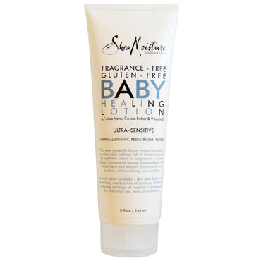 Shea Moisture Baby Healing Lotion Fragrance-Free 8 fl oz (236 ml)