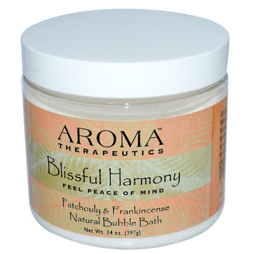 Abra Therapeutics, Natural Bubble Bath, Blissful Harmony, Patchouli & Frankincense, 14 oz (397 g)