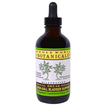 Whole World Botanicals, Royal Break-Stone, Liver-Gall Bladder Support, 4 oz (118 ml)