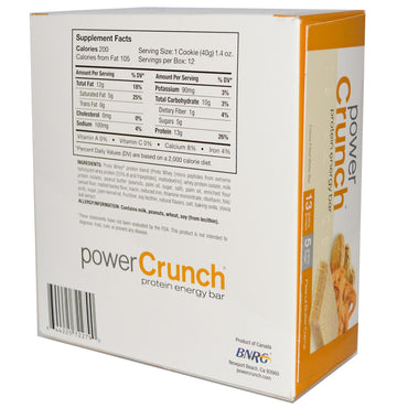 BNRG Power Crunch Protein Energy Bar Peanut Butter Creme 12 Bars 1.4 oz (40 g) Each