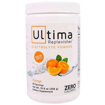 Ultima Health Products, Ultima Replenisher Electrolyte Powder, Orange, 10.8 oz (306 g)