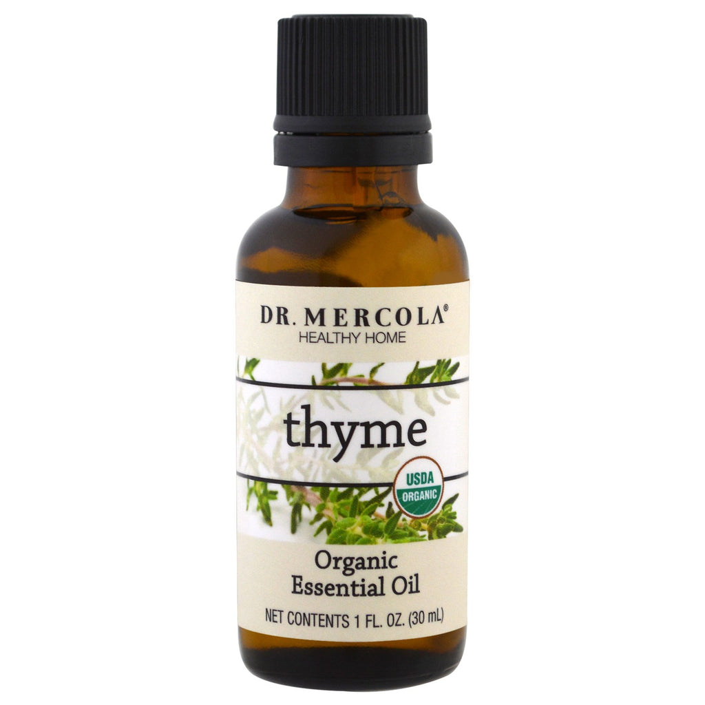 Dr. Mercola, Organic Essential Oil, Thyme, 1 oz (30 ml)