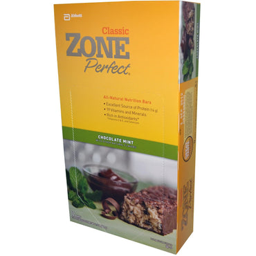 ZonePerfect Classic All-Natural Nutrition Bars Chocolate Mint 12 Bars 1.76 oz (50 g) Each)