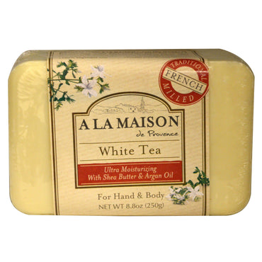 A La Maison de Provence, Hand & Body Bar Soap, White Tea, 8.8 oz (250 g)