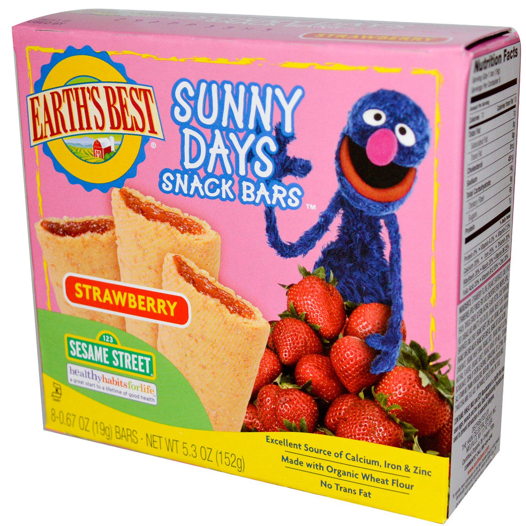 Earth's Best Sunny Days Snack Bars Strawberry 8 Bars 0.67 oz (19 g) Each