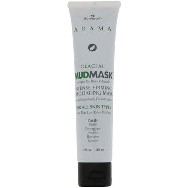 Zion Health, Adama, Glacial Mud Mask, Intense Firming Exfoliating Mask, 4 oz (120 ml)