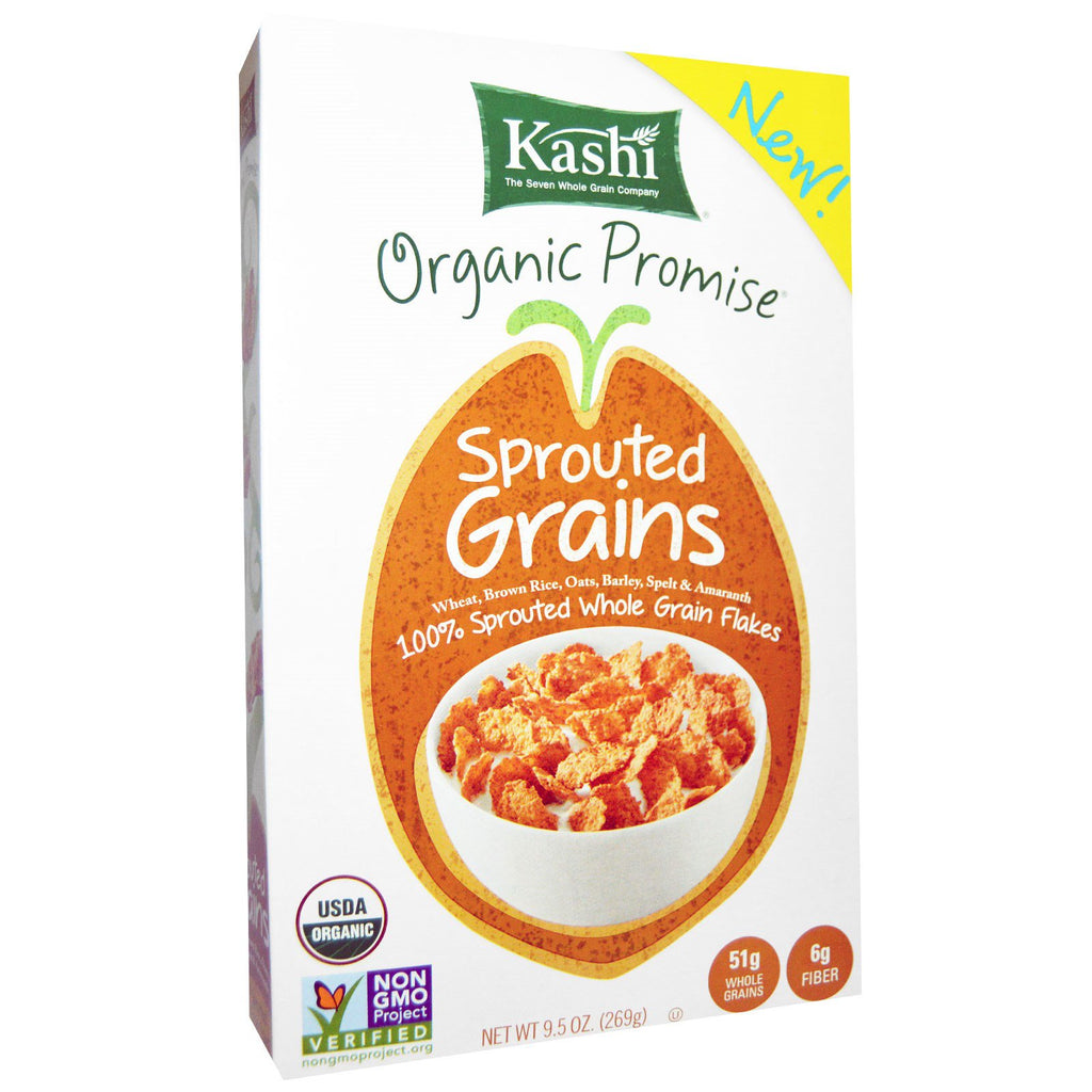 Kashi, Organic, Sprouted Grains, Cereal, 9.5 oz (269 g)