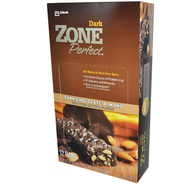 ZonePerfect Dark All-Natural Nutrition Bars Dark Chocolate Almond 12 Bars 1.58 oz (45 g) Each