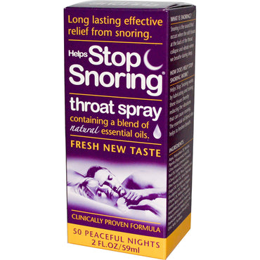 Essential Health Products Helps Stop Snoring Throat Spray 2 fl oz (59 ml)
