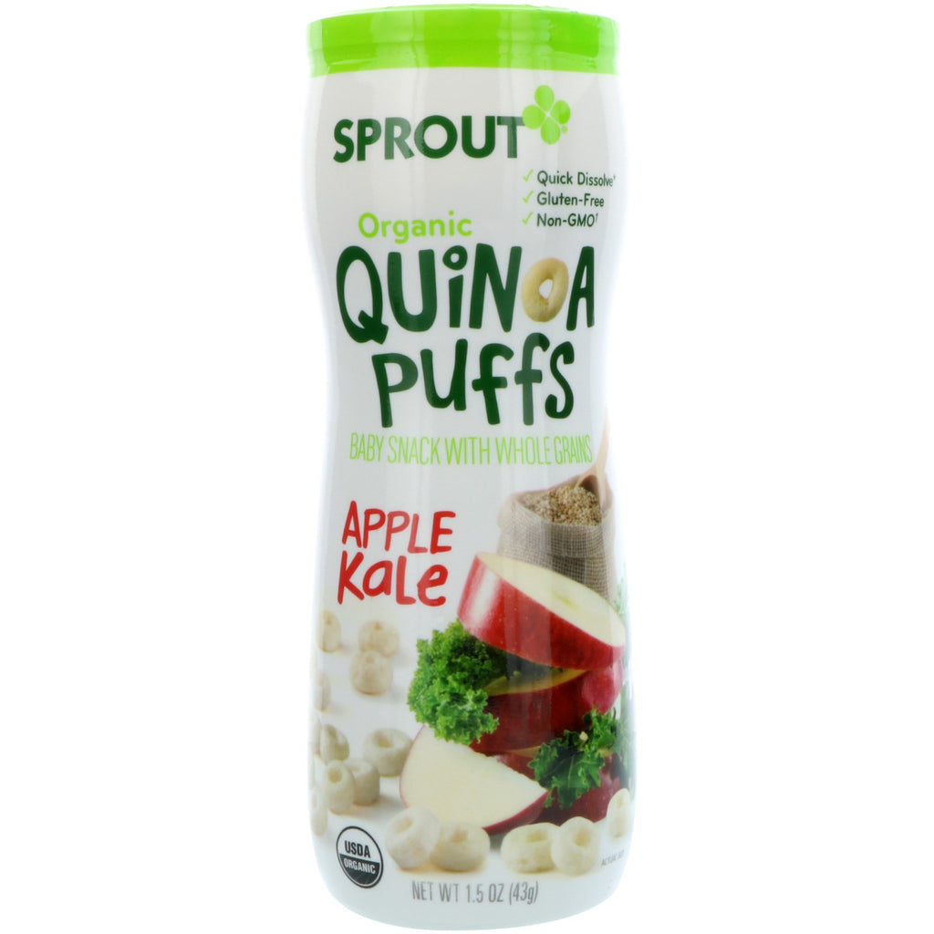 Sprout Organic Quinoa Puffs Apple Kale 1.5 oz (43 g)