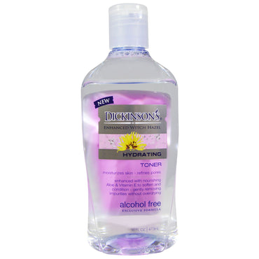 Dickinson Brands, Enhanced Witch Hazel, Hydrating Toner, Alcohol Free, 16 fl oz (473 ml)