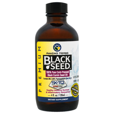 Amazing Herbs, Black Seed, 100% Pure Cold-Pressed Black Cumin Seed Oil, 4 fl oz (120 ml)