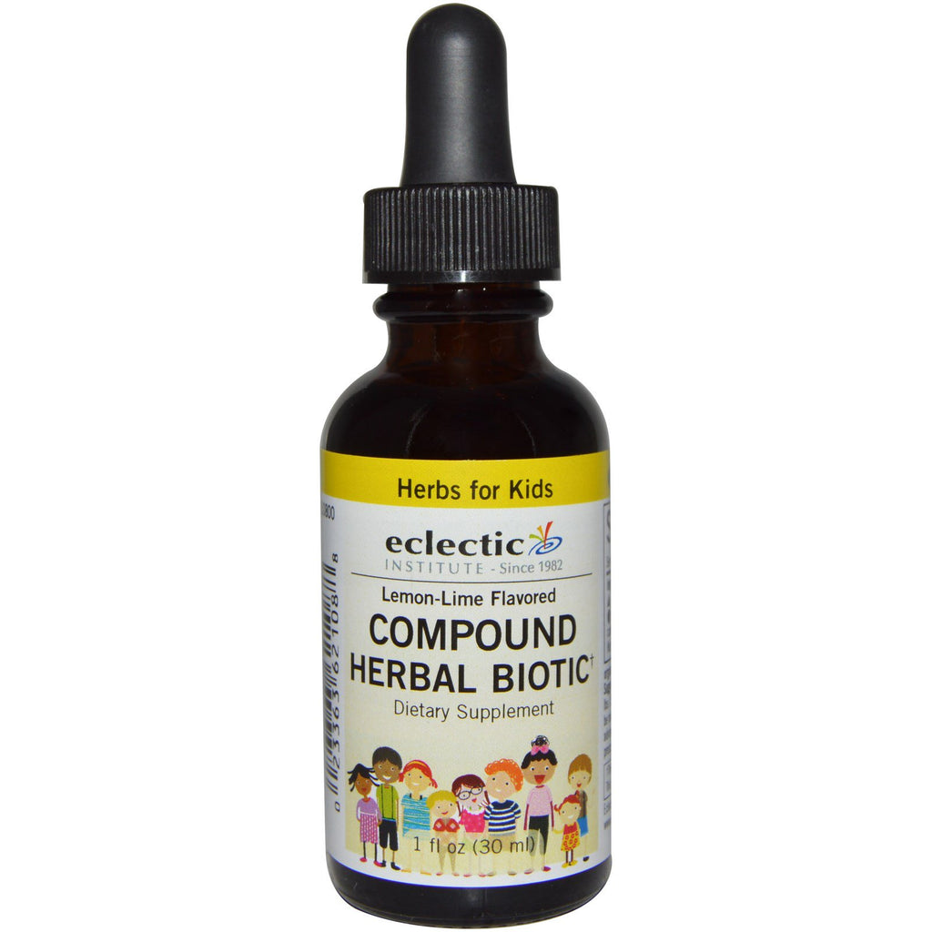 Eclectic Institute, Herbs For Kids, Compound Herbal Biotic, Lemon-Lime Flavored, 1 fl oz (30 ml)
