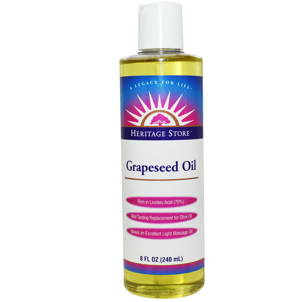 Heritage Store, Grapeseed Oil, 8 fl oz (240 ml)