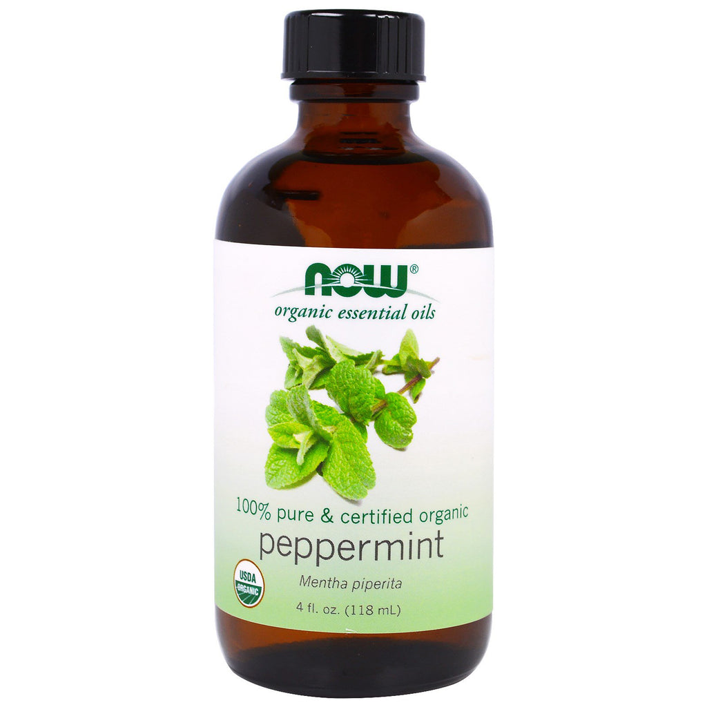 Now Foods, Organic Essential Oils, Peppermint, 4 fl oz (118 ml)