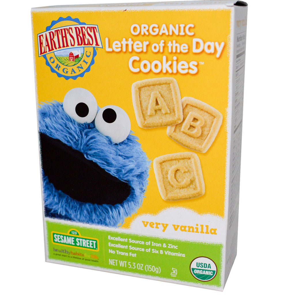 Earth's Best Organic Letter of the Day Cookies Very Vanilla 5.3 oz (150 g)