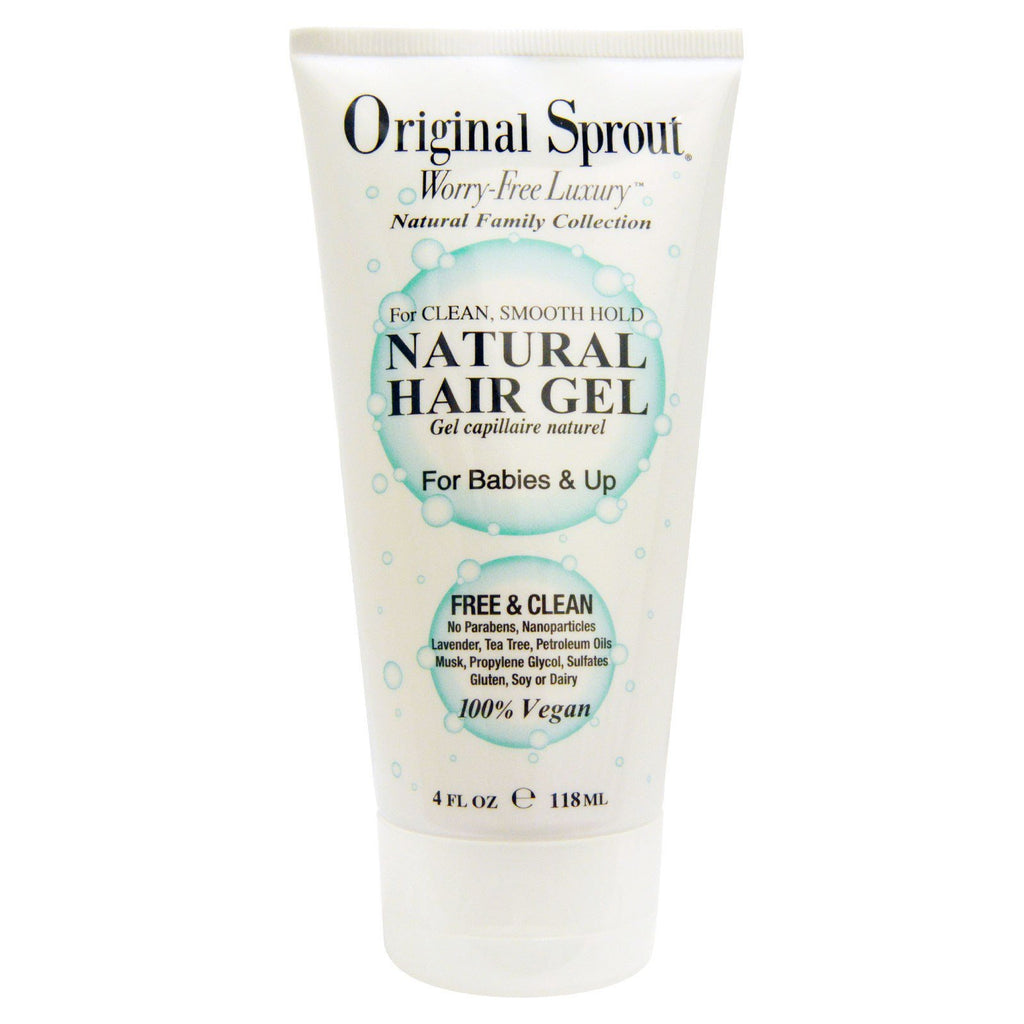 Original Sprout Inc, Natural Hair Gel, For Babies & Up, 4 fl oz (118 ml)