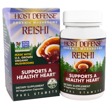 Fungi Perfecti, Host Defense, Reishi, Supports a Healthy Heart, 30 Veggie Caps