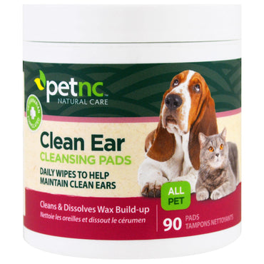 petnc NATURAL CARE, Clean Ear Cleansing Pads, 90 Pads
