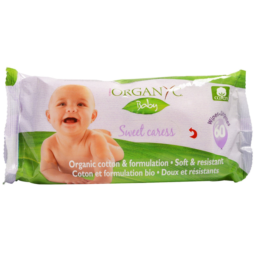 Organyc, Sweet Caress, Organic Cotton Baby Wipes, 60 Wipes