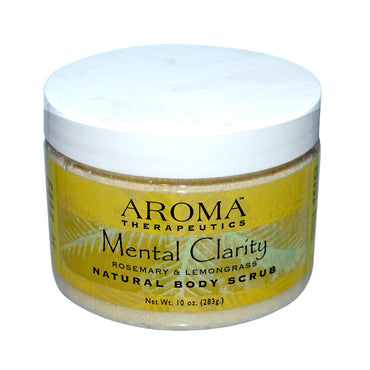 Abra Therapeutics, Natural Body Scrub, Mental Clarity, Rosemary & Lemongrass, 10 oz (283 g)