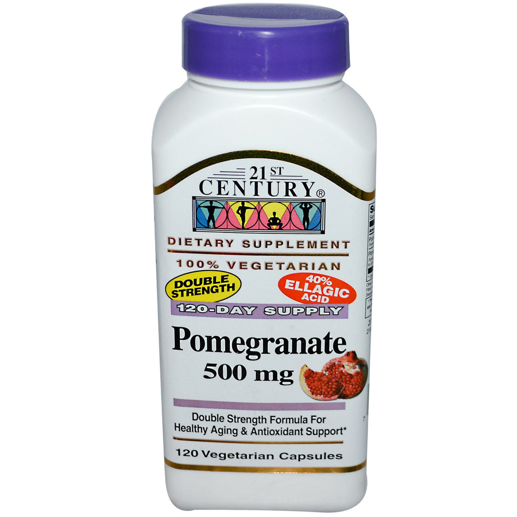 21st Century, Pomegranate, 500 mg, 120 Veggie Caps