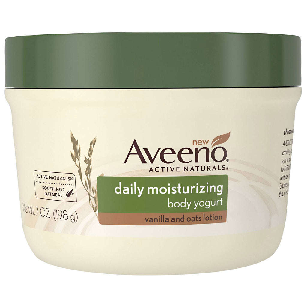 Aveeno, Active Naturals, Daily Moisturizing Body Yogurt, Vanilla and Oats Lotion, 7 oz (198 g)