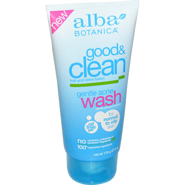 Alba Botanica, Good & Clean, Gentle Acne Wash, 6 oz (170 g)