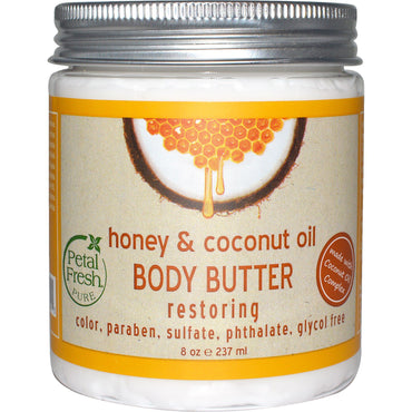 Petal Fresh, Pure, Body Butter, Restoring, Honey & Coconut Oil, 8 oz (237 ml)